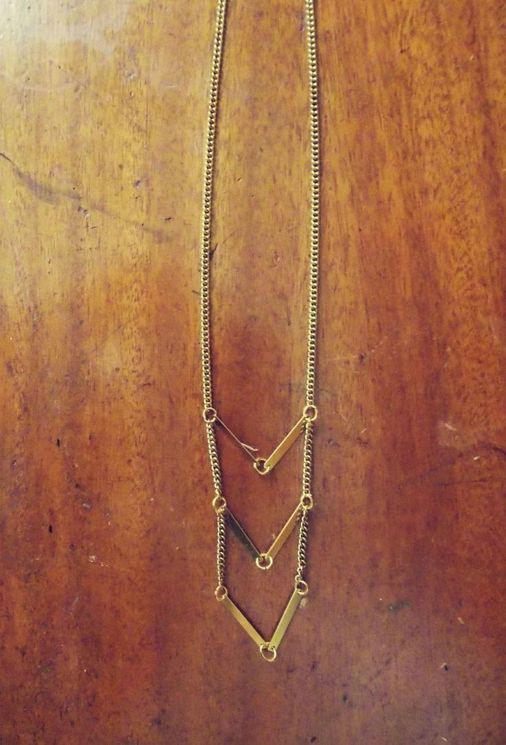 Geometrical Brass Necklace by Lycidasjewelry on Etsy