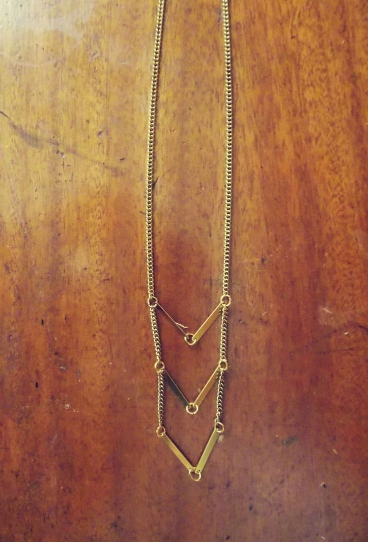 Geometrical Brass Necklace by Lycidasjewelry on Etsy