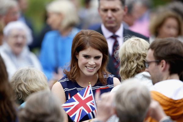 """Princess Eugenie Photos Photos - Princess Eugenie of York greets guests during """"The Patron's Lunch"""" celebrations for The Queen's 90th birthday at  on June 12, 2016 in London, England. - The Patron's Lunch to Celebrate the Queen's 90th Birthday"""