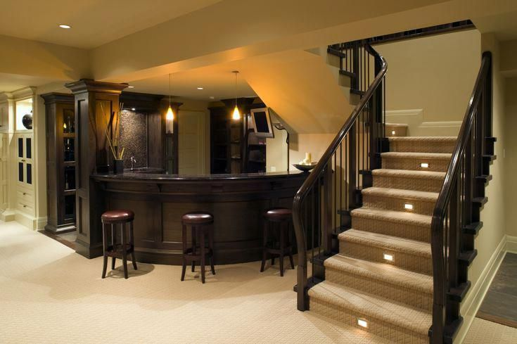 How Much Does It Really Cost To Finish Or Remodel A Basement Basementbar Home Bar Designs Finishing Basement Basement Remodeling