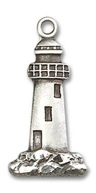 Sterling Silver Lighthouse Medal 5922SS