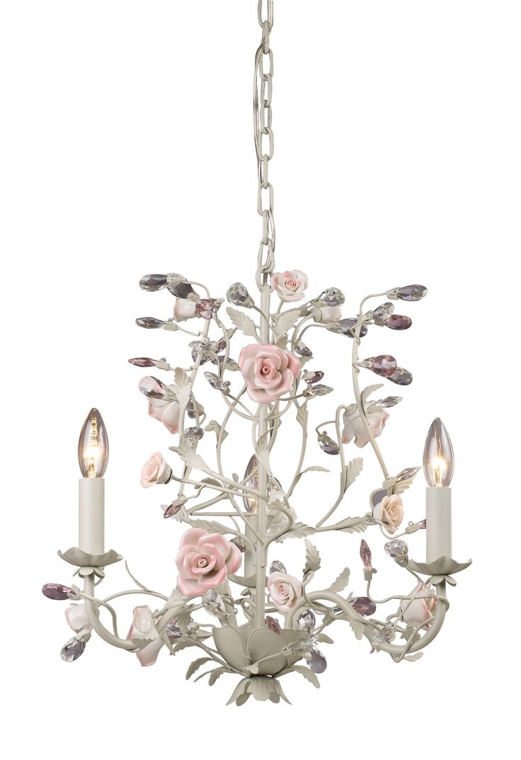 Shabby Chic Chandeliers Cheap: Light flower chandelier - Would love this for my office :),Lighting