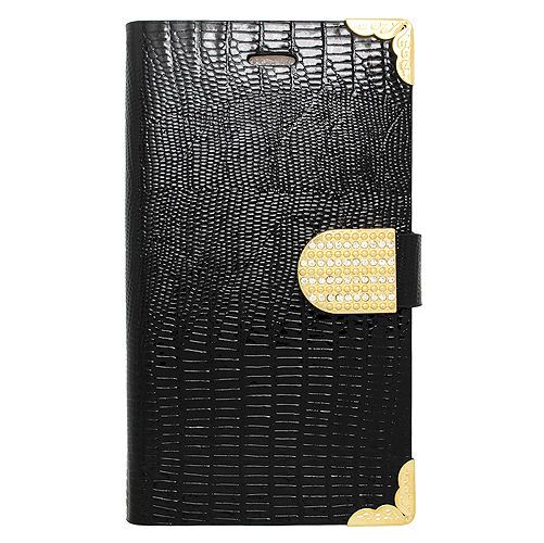 Black Diamond  Rhinestone Flip Leather Case Cover For Samsung Galaxy Note Edge #UnbrandedGeneric