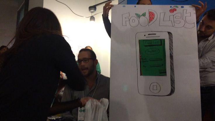 Presentazione dei progetti durante il collegamento con la New York Sustainability Jam
