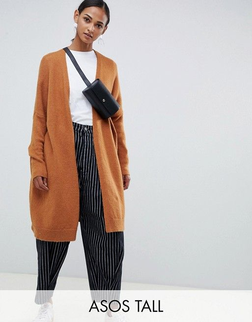 8b7d9f842494 DESIGN Tall eco oversize cardigan in fluffy yarn | asos | ASOS, Clothing  for tall women a Oversized cardigan