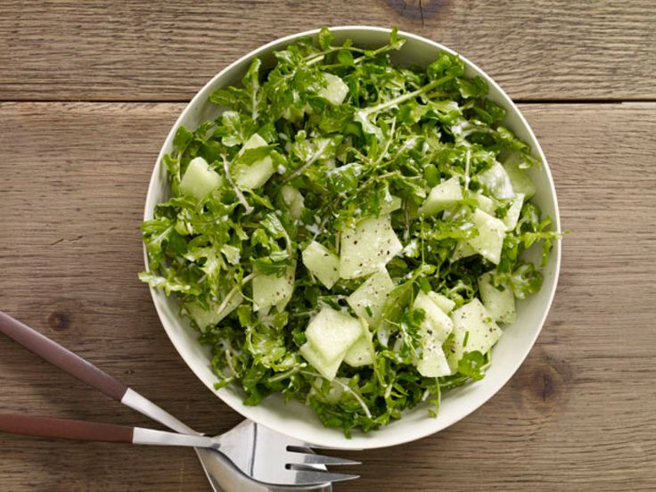 Honeydew and Arugula Salad : The sweetness of honeydew melon complements the spicy quality of arugula for a refreshing summer salad.