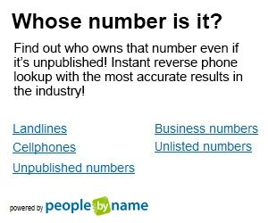 Get the owner's name for any phone number. Research anyone by name or address.