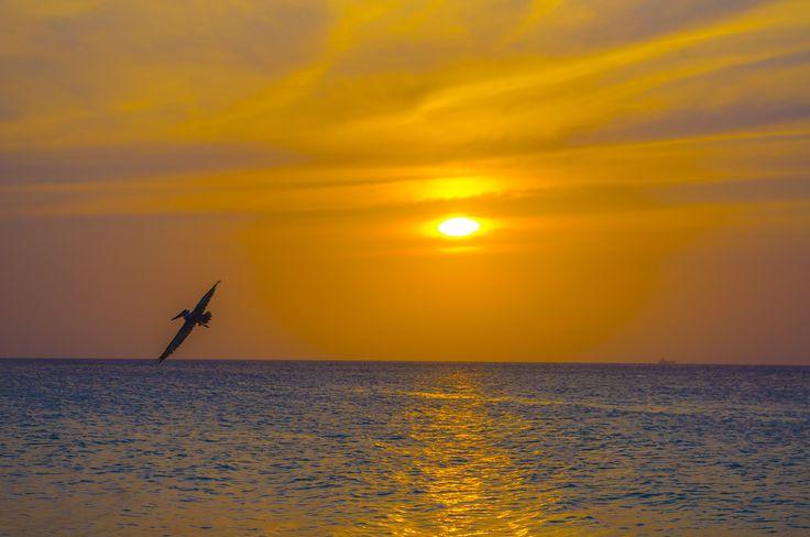 Ondergaande zon, maart 2013 Aruba. no 3