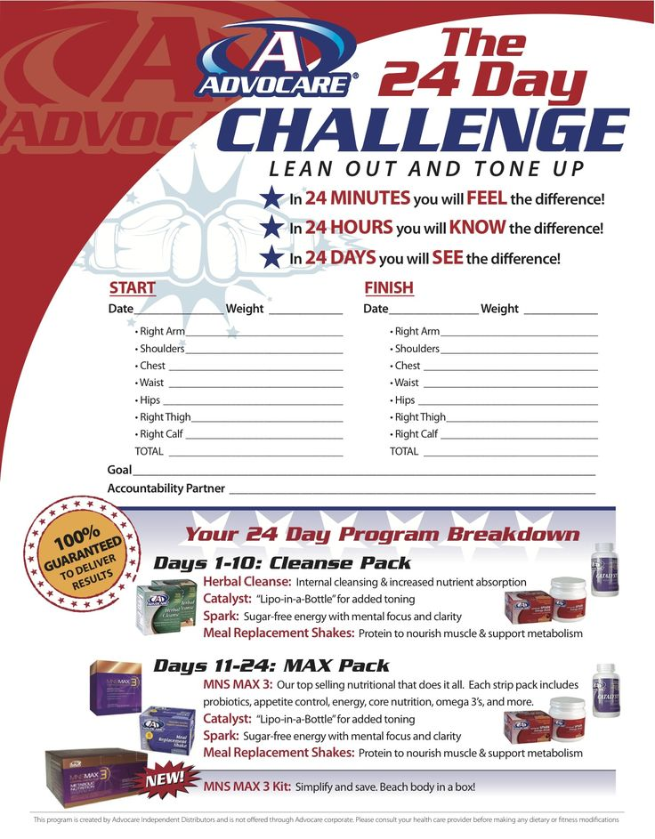 I take advocare products and lost 20 pounds after 2 months of being on the product. I will never stop taking advocare products. Now I even have a business out of it www.advocare.com/08073765 check it out!