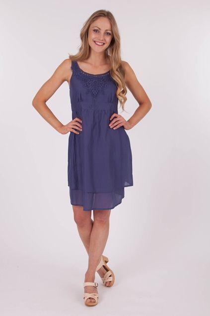 Esprit clothing Solid 80s Voile Dress - Womens Knee Length Dresses - Birdsnest Buy Online
