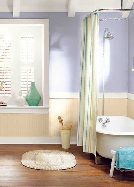 Wall Colour Inspiration: This Neutral, Rustic Bathroom Look Is Complete With BEHR