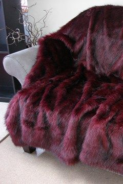 Ruby Fox Faux Throw - ruby