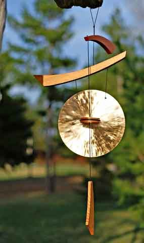 wind chimes - I got this for my birthday. Does not seem to gong that much. Does a lot of spinning