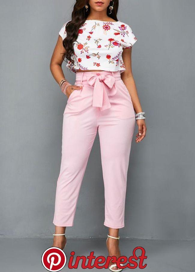 Pantalones De Moda 2019 Mujer Con Lazos In 2020 Outfits Casual Outfits Fashion Pan Pantalones De Moda Pantalones De Vestir Mujer Pantalones De Moda Mujer