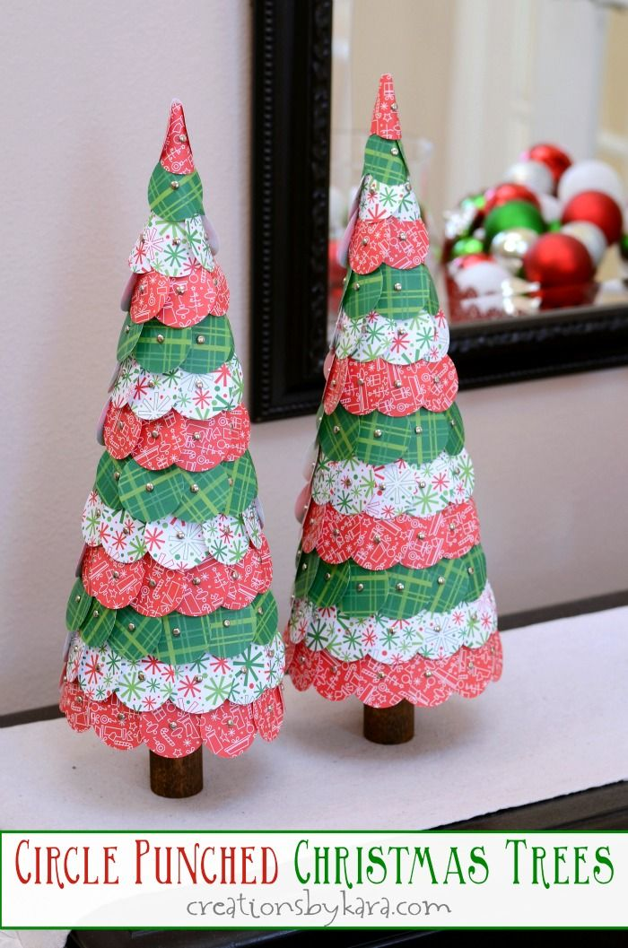 Paper Punched Christmas Tree Tutorial easy and