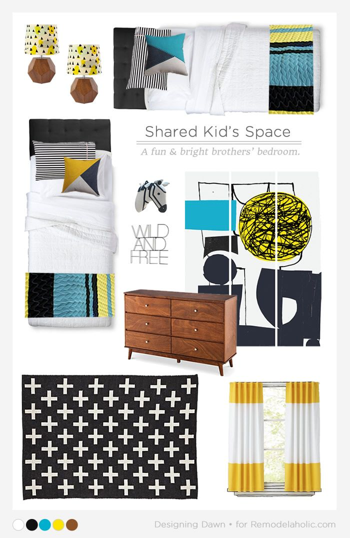 Designing a Shared Kids Space – Boy's Edition