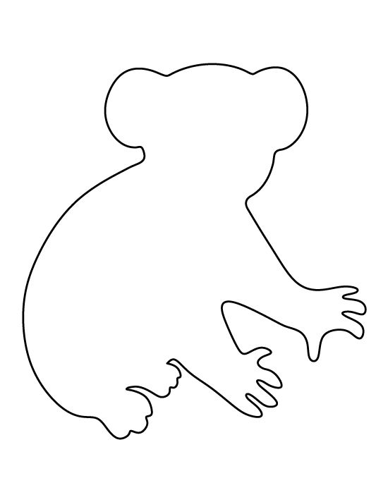 Koala Bear pattern. Use the printable pattern for crafts, creating stencils, scrapbooking, and more. Free PDF template to download and print at http://patternuniverse.com/download/koala-bear-pattern/