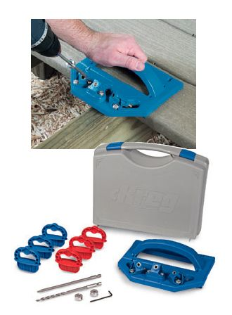 Kreg Tools Deck Jig Features Easy Grip Drill Guide for Deck Fastening. Rockler.com