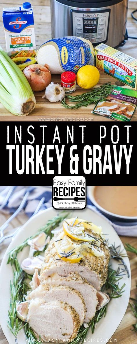 Turkey Breast in the Pressure Cooker recipe - Use your instant pot to cook your turkey fast and free up the oven this Thanksgiving! #instantpot #turkey #thanksgiving #recipe