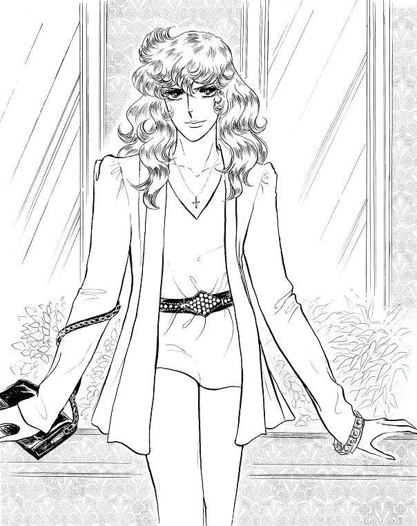 Lady Oscar in modern clothes-- Kodemari art