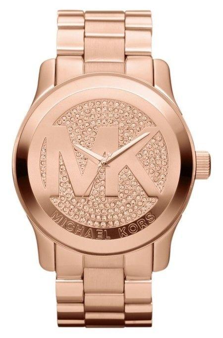 5b5d5e280602b Relógio Michael Kors® – MK5661 – Dourado Rose c  Strass – Réplica Premium  AAA+