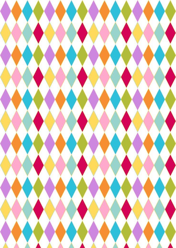 Free harlequin pattern paper