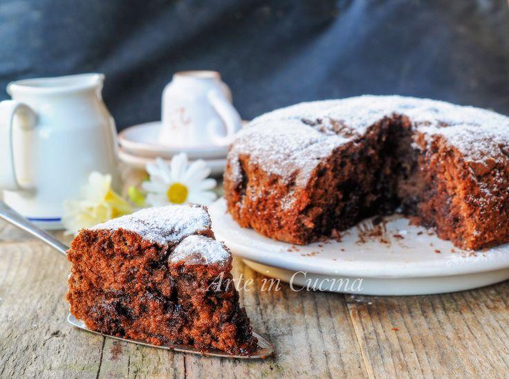 Torta soffice yogurt cioccolato e nutella senza burro vickyart arte in cucina