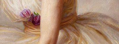 Ballerina (detail of roses) | Herbert James Draper