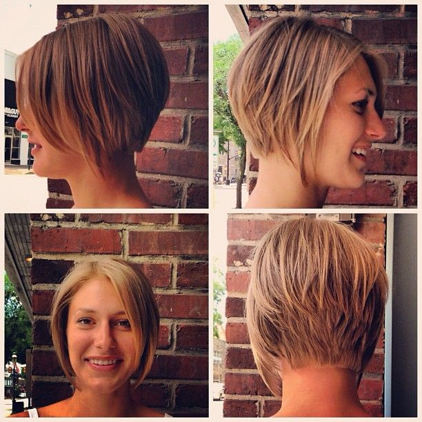 stacked haircuts for thick hair graduated stacked bob cut and style by kyme at gravity 3740