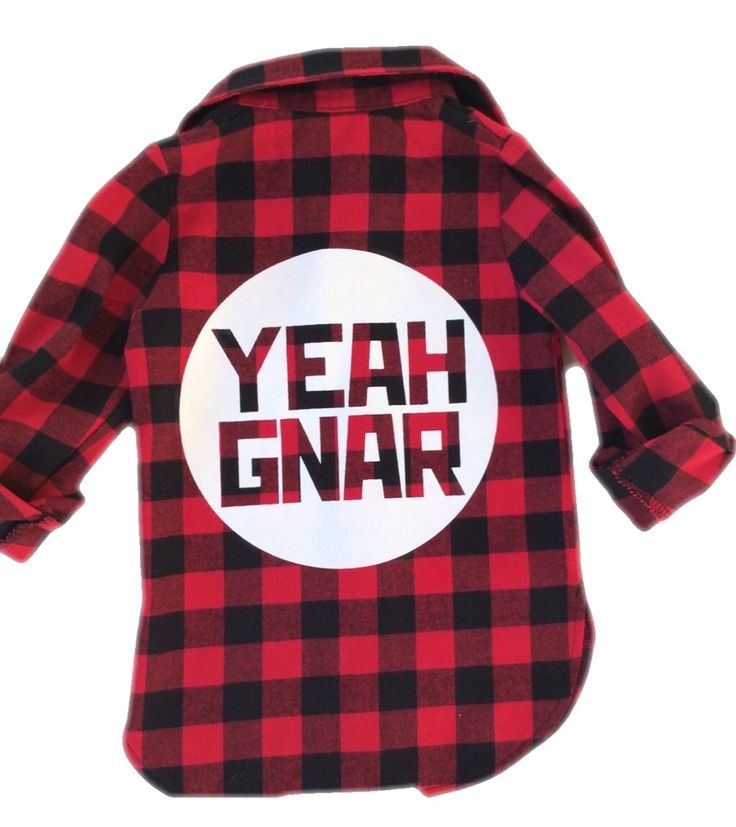 Kids YG Flanno - red/black / Yeahgnar