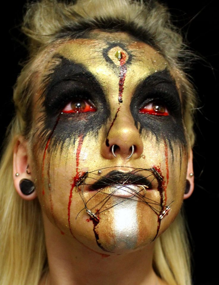 Student makeup by Kimberly St James-Sir Sanford Fleming College Instructor Rhonda Causton(Reel Twisted FX)