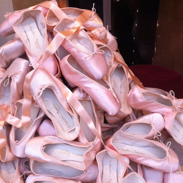 Paris window display - what young ballerina wouldn't get excited about this store display?