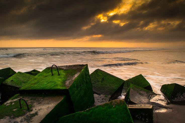 Glagah Beach will rain, Kulon Progo, Jogjakarta, indonesia