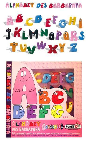 Het Barbapapa speelgoed alfabet #Barbapapa #speelgoed #alfabet