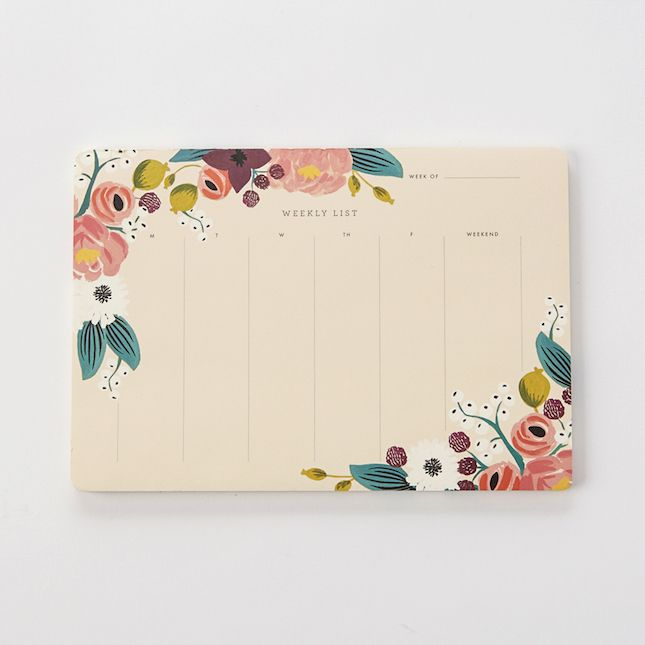 Get your week in order with this pretty desk planner.