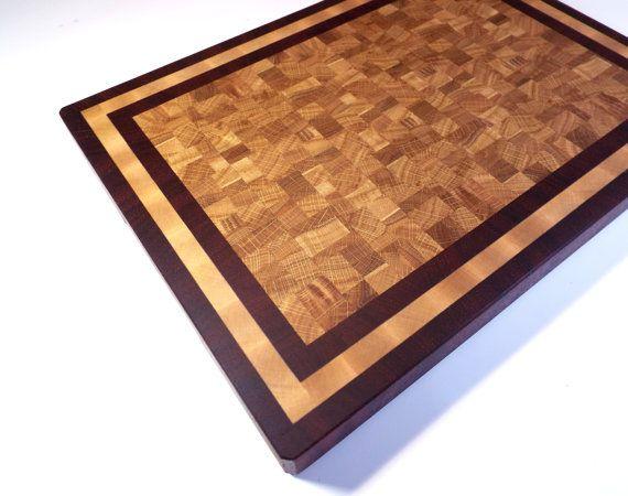 Large End Grain Cutting Board. Padauk Oak от WoodshopMadeByHand