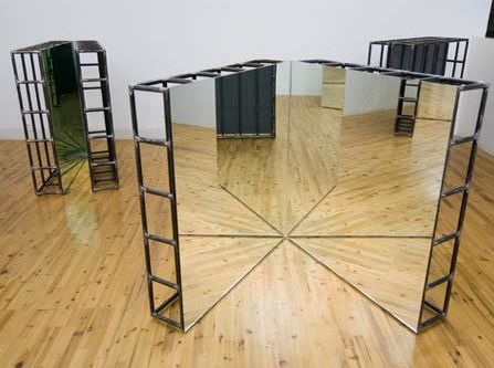 Michelangelo Pistoletto, Mirror cage, double square, 1976-2007, mirrors, iron