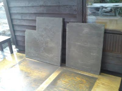 Concrete bench top information