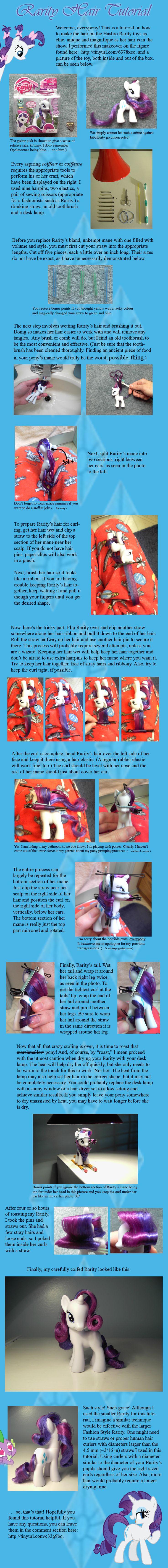 Rarity Hair Tutorial by countschlick.deviantart.com