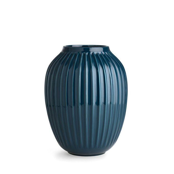 Hammershøi Vase H250mm, grand, petrol bleu