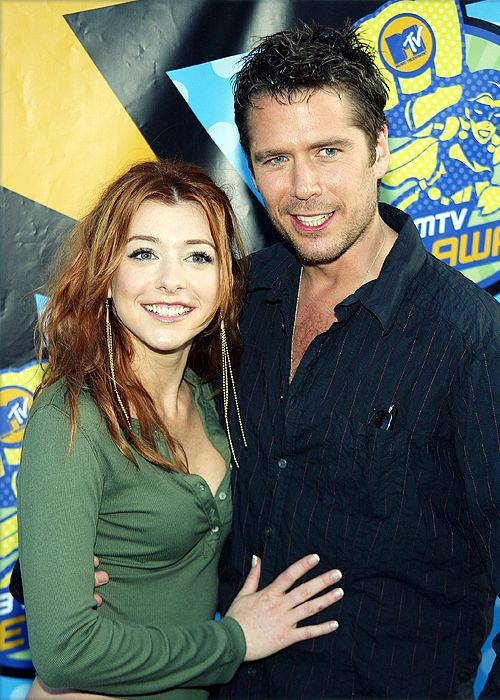Alyson Hanigan and Alexis Denisof. No way! Wesley and willow!