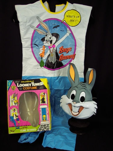 VTG Collegeville Halloween Costume Bugs Bunny 1987 Complete Box Small | eBay