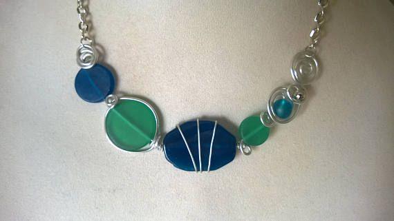 FREE GIFT  Free earrings Modern necklace Asymmetrical