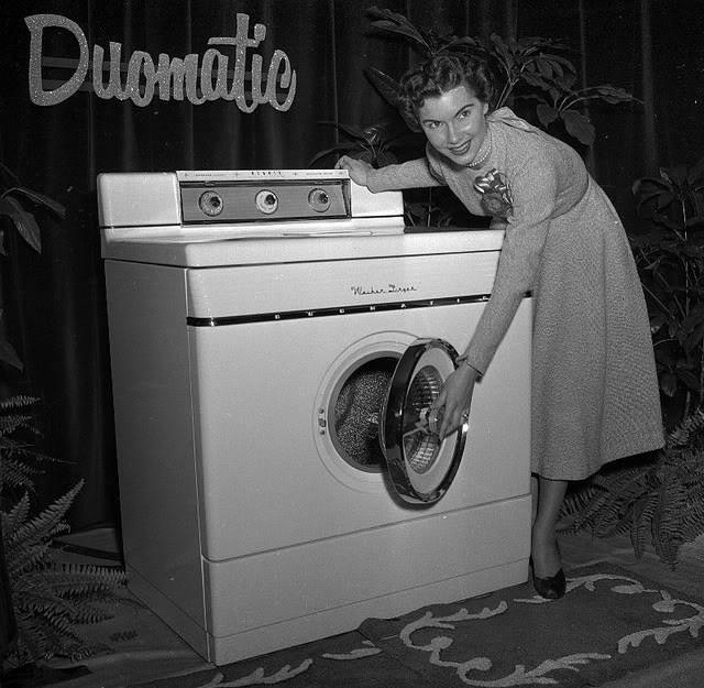 1950 Washing Machine ~ Duomatic washing machine photography vintage