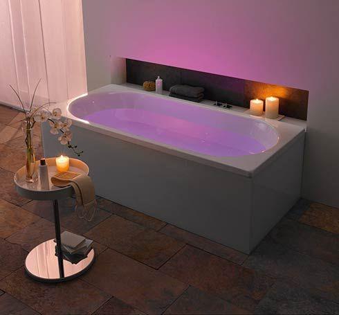 lighted bathtub!