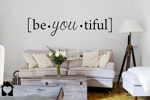 Be you tiful Beautiful phonetic -Wall Decor Decal Home Art quote Decoration DIY sticker väggord väggdekor Sisustustarra 2022