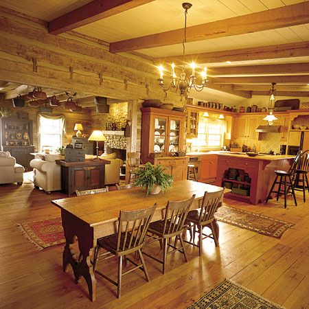 422 best images about primitive kitchens dining rooms on for Kitchen come dining room ideas