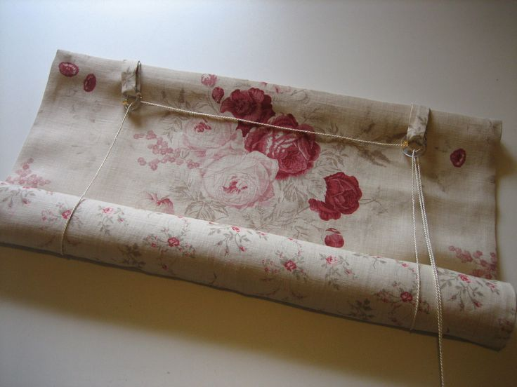 Swedish blind in Kate Forman Roses and Sprig fabrics by Oak House Design - love this