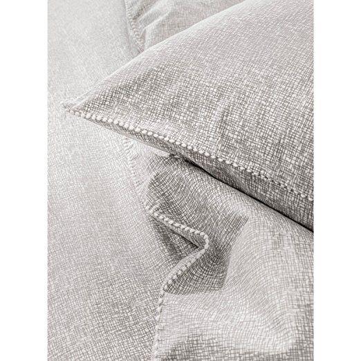 Today 232263 Waby Sabi Nina Parure de lit avec Housse de couette/2 Taies d'oreiller Coton Gris 220 x 240 cm: Amazon.fr: Cuisine & Maison