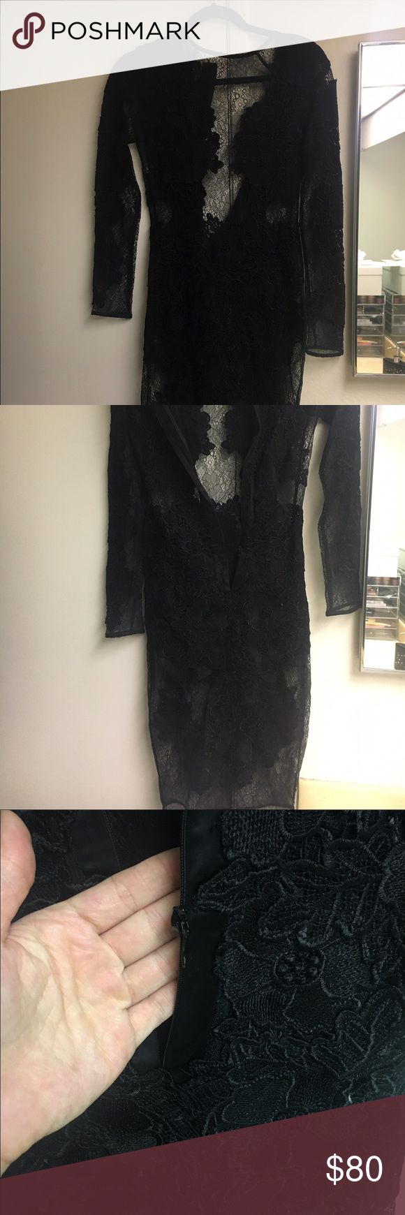 House of Cb Nolita Lace Dress In excellent condition zipper is broken no tears or rips Size small house of cb Dresses Midi